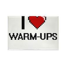 I love Warm-Ups digital design Magnets