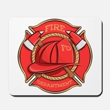 Firefighter Badge Mousepad