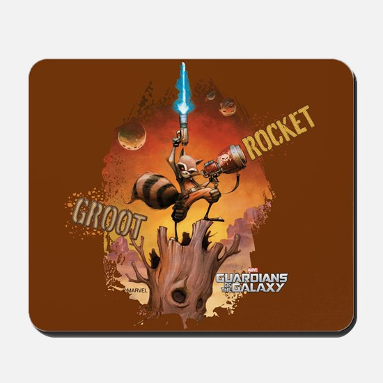 Guardians of the Galaxy Rocket and Groot Mousepad