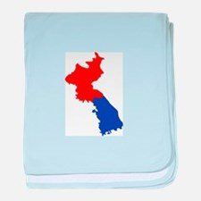 NORTH AND SOUTH KOREA baby blanket