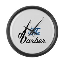 THE BABRBER Large Wall Clock