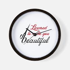 MAKE YOU BEAUTIFUL Wall Clock