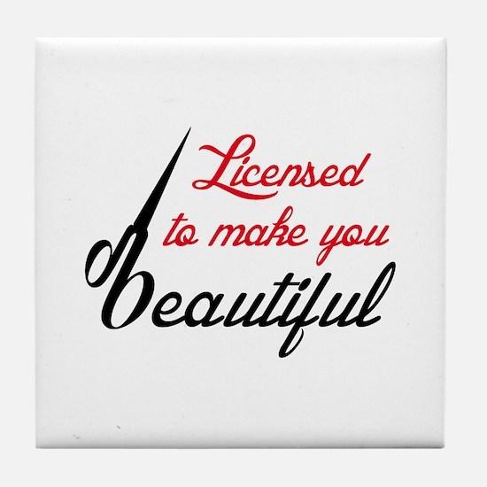 MAKE YOU BEAUTIFUL Tile Coaster
