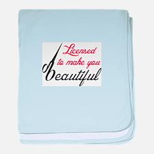 MAKE YOU BEAUTIFUL baby blanket