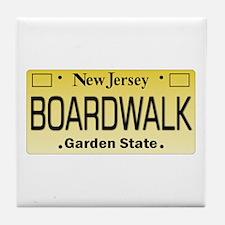 Boardwalk NJ Tag Giftware Tile Coaster