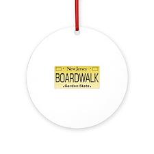 Boardwalk NJ Tag Giftware Round Ornament