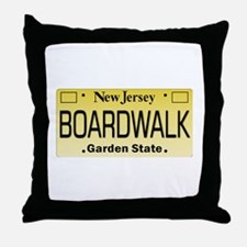 Boardwalk NJ Tag Giftware Throw Pillow
