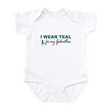 I Wear Teal For My Godmother 2 Infant Bodysuit