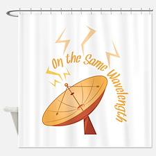 Same Wavelength Shower Curtain