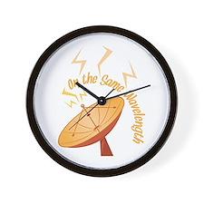 Same Wavelength Wall Clock