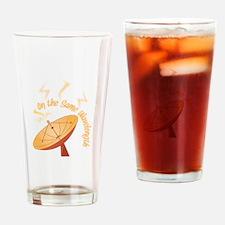 Same Wavelength Drinking Glass
