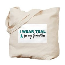 I Wear Teal For My Godmother 2 Tote Bag