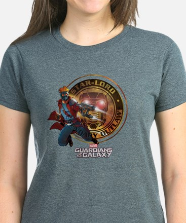 Guardians of the Galaxy Star- Women's Dark T-Shirt