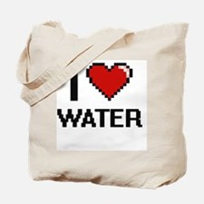 I love Water digital design Tote Bag