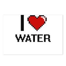 I love Water digital desi Postcards (Package of 8)