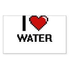I love Water digital design Decal
