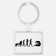 Evolution of Judo Landscape Keychain