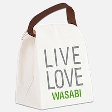 Live Love Wasabi Canvas Lunch Bag
