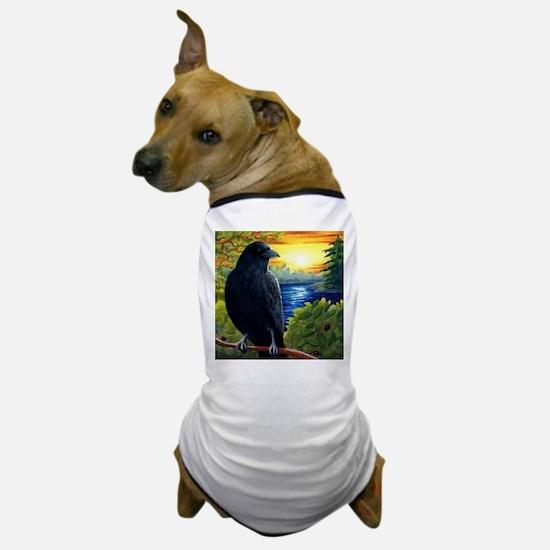 Bird 63 crow raven Dog T-Shirt