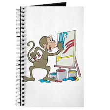 Cute Artist Chimpanzee Monkey Journal