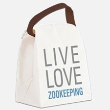 Live Love Zookeeping Canvas Lunch Bag