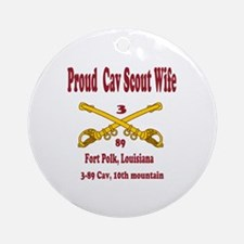 3-86 cav 1oth mount div wife Ornament (Round)