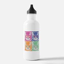 Quad Cats Modern Desig Water Bottle