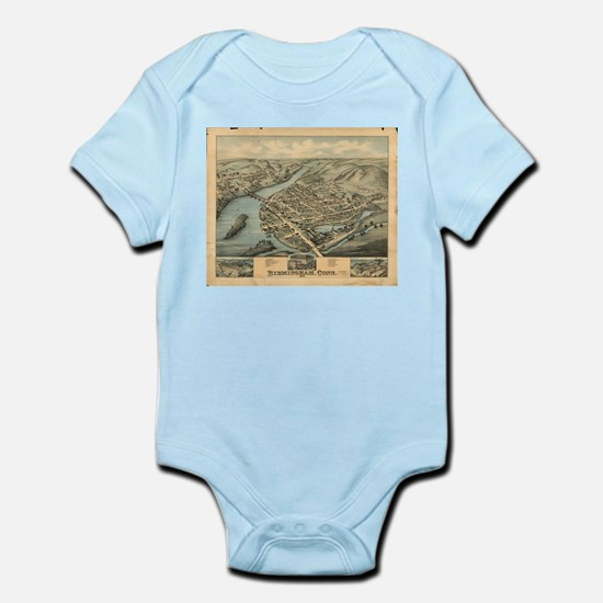 Vintage Pictorial Map of Birmingham CT ( Body Suit