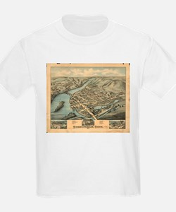 Vintage Pictorial Map of Birmingham CT (18 T-Shirt
