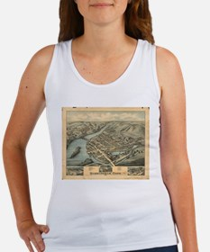Vintage Pictorial Map of Birmingham CT (1 Tank Top