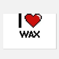 I love Wax digital design Postcards (Package of 8)