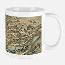 Vintage Pictorial Map of Birmingham CT (1876) Mugs