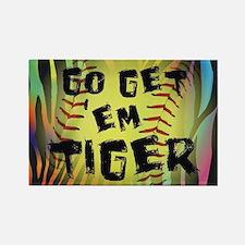 Go Get Em Tiger Softball Motivational Magnets