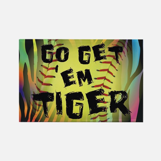 Go Get Em Tiger Softball Motivational Magnets