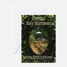 Holy Matrimony Congrats Greeting Card