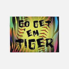 Go Get Em Tiger Softball Motivational 5'x7'Area Ru