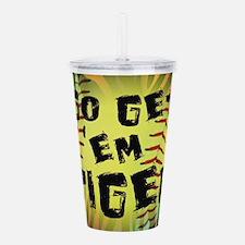 Go Get Em Tiger Softball Motivational Acrylic Doub
