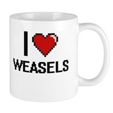 I love Weasels digital design Mugs