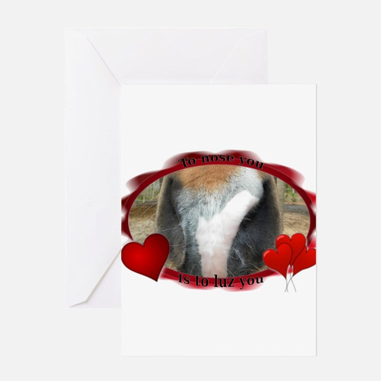 To Nose You Greeting Cards