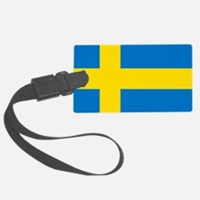 Square Swedish Flag Luggage Tag