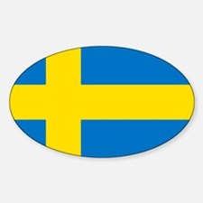 Square Swedish Flag Decal