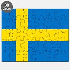 Square Swedish Flag Puzzle