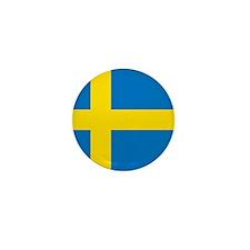 Square Swedish Flag Mini Button (100 pack)