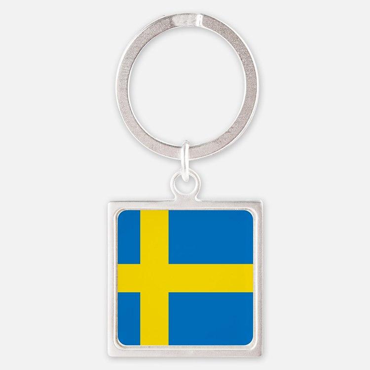 Square Swedish Flag Keychains