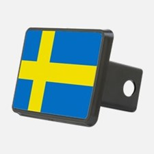 Square Swedish Flag Hitch Cover