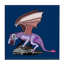 Dragon on Cliff Tile Coaster