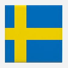 Square Swedish Flag Tile Coaster