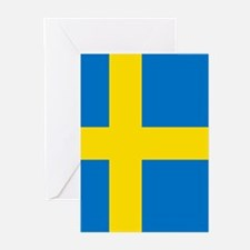 Square Swedish Flag Greeting Cards