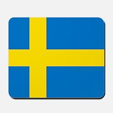 Square Swedish Flag Mousepad