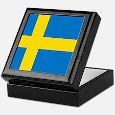 Square Swedish Flag Keepsake Box
